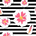 Cherry Blossom Seamless Pattern Royalty Free Stock Photo - 108458205