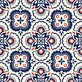 Seamless Retro Pattern With Floral Elements Royalty Free Stock Photos - 108504978