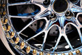 The Chromeplated Rim Of A Wheel Royalty Free Stock Images - 10864589