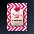 Valentines Day Party Flyer Design With Holiday Typography Letter And Heart On Abstract Red Background. Premium Vector Royalty Free Stock Photo - 108623985