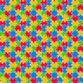 Colorful Jigsaw Seamless Pattern Stock Images - 108767644