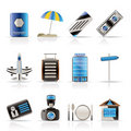 Travel, Holiday And Trip Icons Stock Photography - 10882382