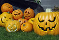 Pumpkins And Jack-o-lanterns Stock Photography - 10885772