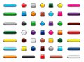 Web Button Icon Set, Cartoon Style Royalty Free Stock Photo - 108869855