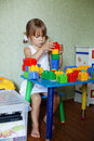 Child Playing With Constructor Stock Image - 10897491