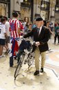 An Old Fashioned Man In Milan, Italy Stock Photography - 108913372