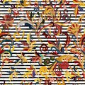 Striped Seamless Pattern. Hand Draw Floral Wallpaper. Colorful Ornamental Border Royalty Free Stock Images - 108923729