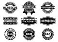 Vector Stamp Badge Label For Marketing Selling Barbecue Product, Premium Beef, Slow Low Cooked, Organic, Premium Top Quality Stock Images - 108935534