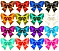 Set Of Sixteen Holiday Bows With Gold Edging Royalty Free Stock Images - 108948089