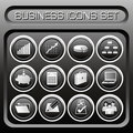 Vector Business Icons Set Royalty Free Stock Photos - 1095468