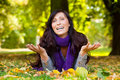 Parc Autumn Woman Royalty Free Stock Photography - 10909627