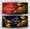 Gift Certificates With  Gold Ribbons. Stock Image - 109003951