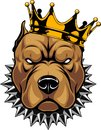 Head Of A Dog In The Crown Royalty Free Stock Image - 109053016