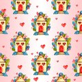 Stylish Seamless Pattern With Watercolor Hearts. Valentine Elements. Love Illustration Royalty Free Stock Images - 109288959