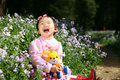 Little Asian Girl Is Laughing Stock Image - 10932231