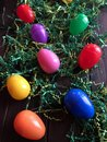 Plastic Easter Eggs On Green Grass Stock Photography - 109330642
