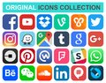 Popular Social Media And Other Icons Stock Photos - 109490353