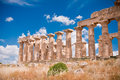 Greek Temple In Selinunte Royalty Free Stock Photography - 10950407