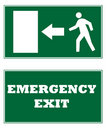 Emergency Exit Signs Royalty Free Stock Photos - 10953418
