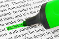Highlighter And Word Decision Royalty Free Stock Photography - 10953677