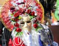 Venice, Italy - February 5, 2018: Person With Carnival Mask And Stock Images - 109557234