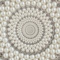 Pearls And Diamonds Jewels Abstract Spiral Background Pattern Fractal. Pearls Background, Repetitive Pattern. Abstract Pearl Backg Royalty Free Stock Photo - 109557675