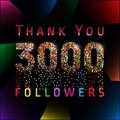 Thank You 3000 Followers Numbers. Stock Photo - 109560720