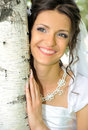 The Bride And A Birch Royalty Free Stock Image - 10962296