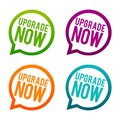 Upgrade Now Buttons. Circle Eps10 Vector. Royalty Free Stock Photography - 109763957