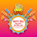 Happy Holi Advertisement Promotional Backgroundd For Festival Of Colors Celebration Greetings Royalty Free Stock Images - 109767019