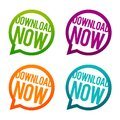 Download Now Round Buttons. Circle Eps10 Vector. Royalty Free Stock Photo - 109799155