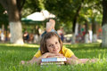 Student In Park Royalty Free Stock Image - 10983376