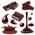 Set Of Piece Chopped Chocolate Candy Royalty Free Stock Image - 109837916