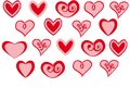 Vector Set Of Valentine`s Day Red Hearts On White Background Stock Photography - 109853622