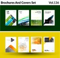 Mega Set Of Abstract Templates For Business, Trendy Colourful Triangles Royalty Free Stock Photography - 109861547