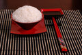 Rice Bowl With Chop Sticks Stock Photography - 1101712