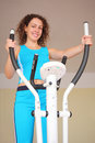 Young Woman On Training Apparatus Royalty Free Stock Image - 11007566
