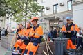People Providing Cleanliness At The Holiday. Royalty Free Stock Photos - 110050998