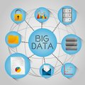 Big Data Globe Analytic Technology Network Icons Royalty Free Stock Photography - 110060867
