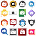 Multiple Buttons - Office Briefcase Royalty Free Stock Images - 11011469