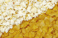 Popcorn And Corn Flakes Royalty Free Stock Photography - 11016977