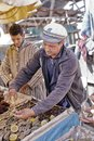 Oyster Seller In The Port Of Essaouira. Royalty Free Stock Image - 110136066