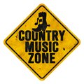 Country Music Zone Sign Stock Image - 110162811