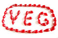The Word VEG Made Of Cornel Berries Stock Photos - 11039053