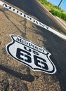 Midpoint In The Historic Route 66. Stock Photo - 110303690