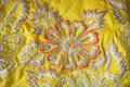 Fabric With Floral Embroidery Royalty Free Stock Images - 11040709
