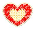 Patchwork And Lace Heart Stock Images - 110455694