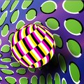 Illusion Vector. Optical 3d Art. Rotation Dynamic Optical Effect. Psychedelic Swirl Illusion. Fantasy Hyperboloid Stock Photos - 110470533