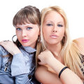 Two Young Pretty Women Posing Stock Photography - 11076872