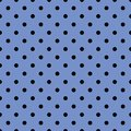 Tile Vector Pattern With Black Polka Dots On Pastel Blue Background Stock Photo - 110738780